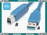 USB 3.0 Kabel Stecker A auf Stecker B - 1,8m