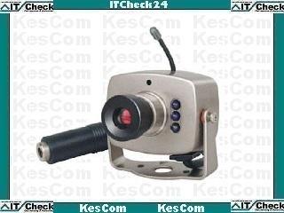 804T-Kx Farb Funk NACHT Kamera mit Netzteil überträgt Bild und Ton