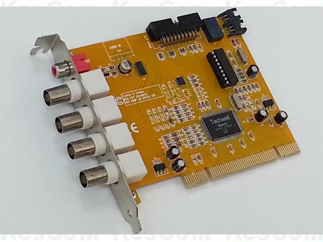 PG104 Videokarte Capture Card 4 BNC Eingänge mit Alarm auch Win7 32/64bit