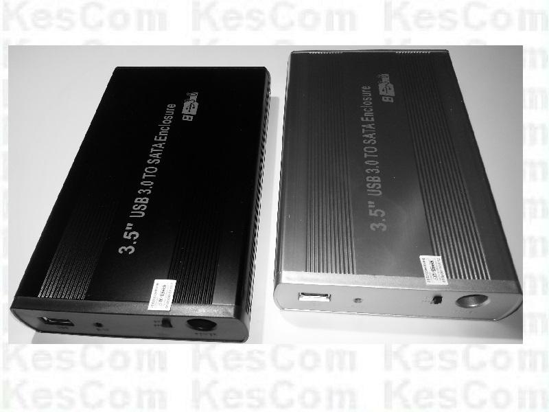 """3,5""""  (8,9cm)  USB 3.0 HighSpeed  externes SATA Festplatten Gehäuse in schwarz"""